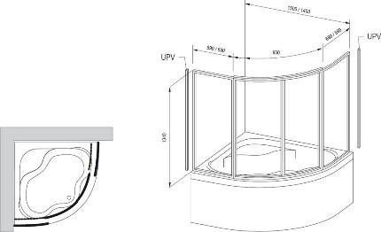 Схема для монтажа штор