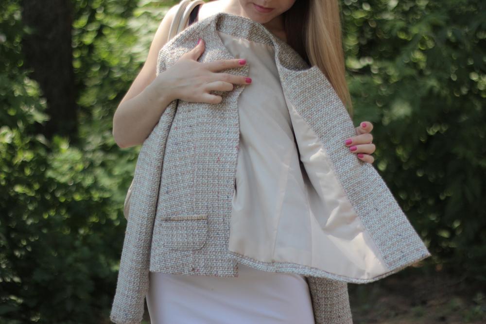 Пиджак из шерстяной ткани