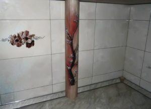 Как можно задекорировать трубу отопления в комнате?