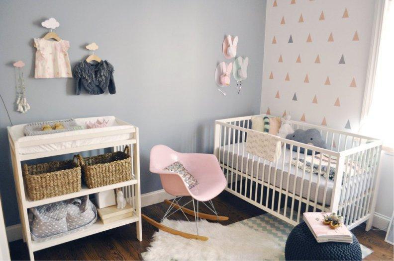 Серая спальня новорождённого