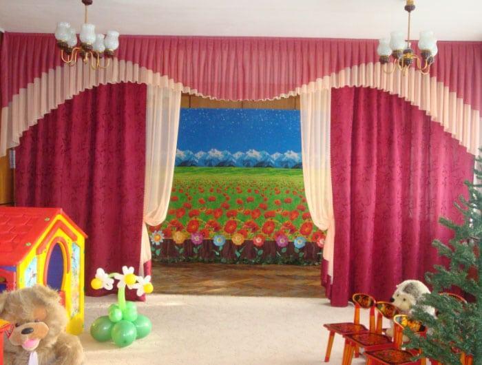 шторы в садике