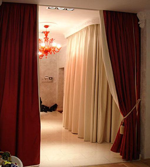 Делаем штору на дверной проем своими руками: мастер-класс