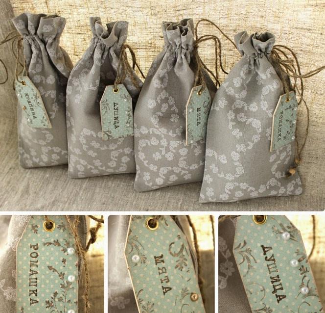 мешочки для трав из тюля