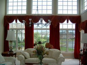 Дизайн окнного пространства в зале
