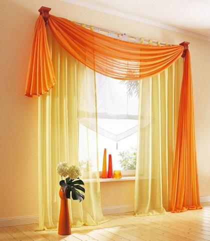 шторы оранжевого цвета