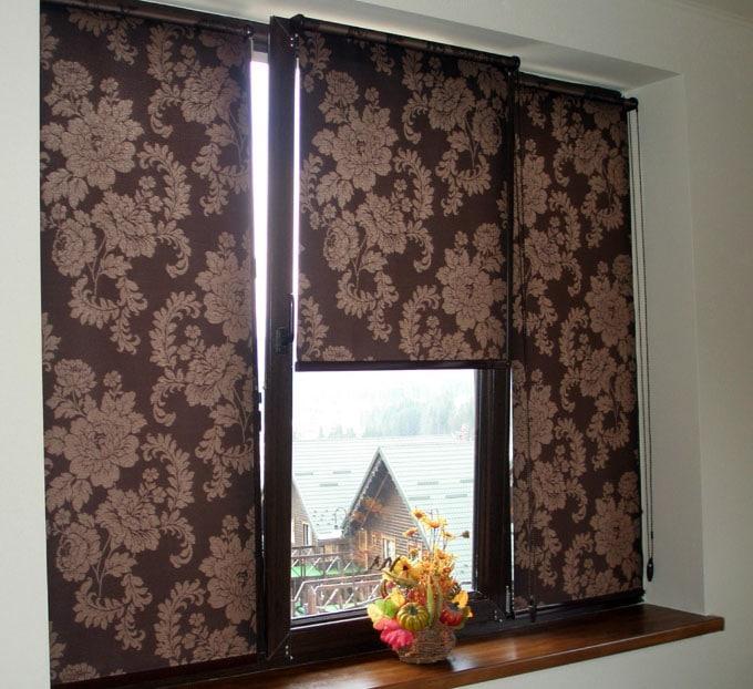 красивые тканевые ролеты на окна