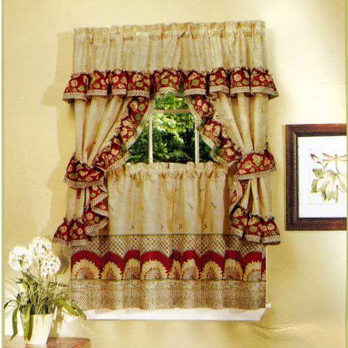 Выбираем деревенские шторы