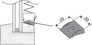 Клин позволяет сделать косую поверхность ровной