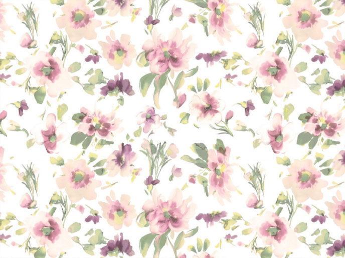 ткань для штор с цветами
