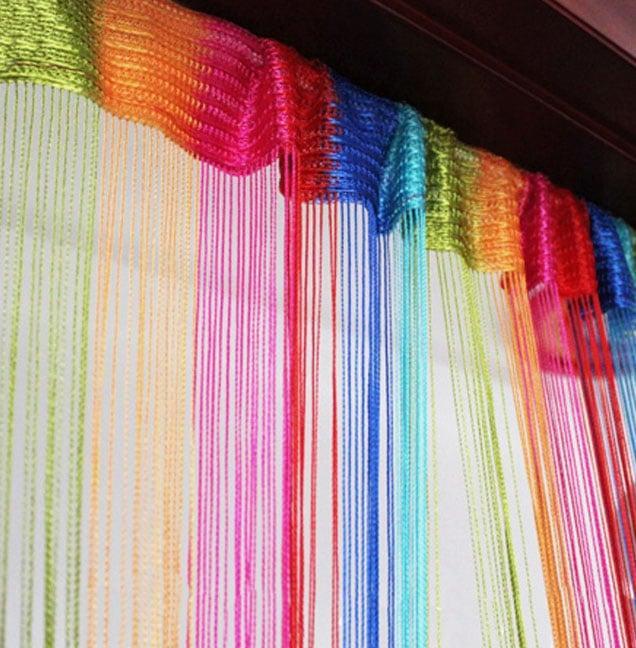 Радужные шторы для детской комнаты из кисеи