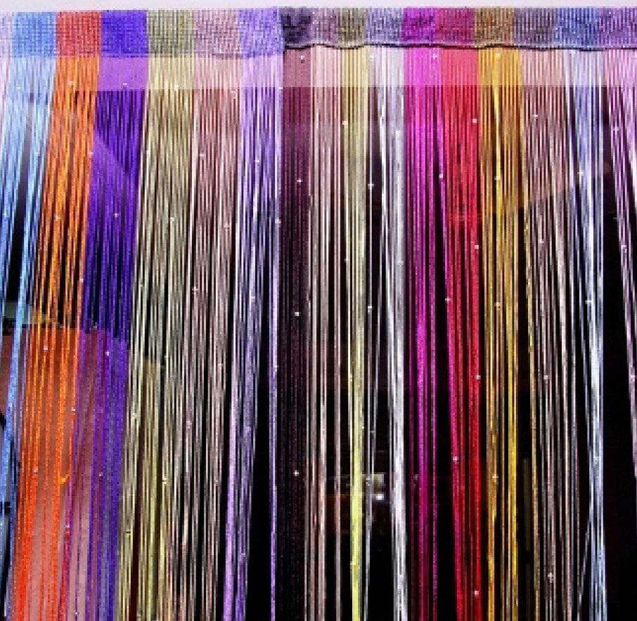 Радужные кисейные шторы