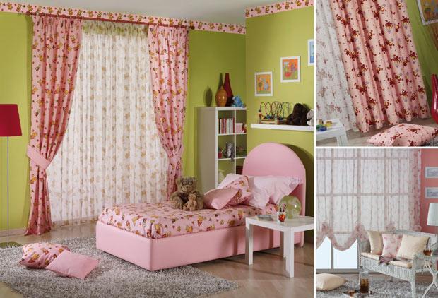 розовые ткани для штор в детскую