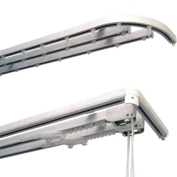 Карниз из алюминия подойдет для тяжелых дизайнерских задумок из штор