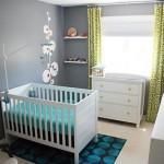 серый цвет в комнате для малыша