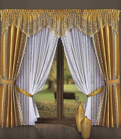 золотистые шторы