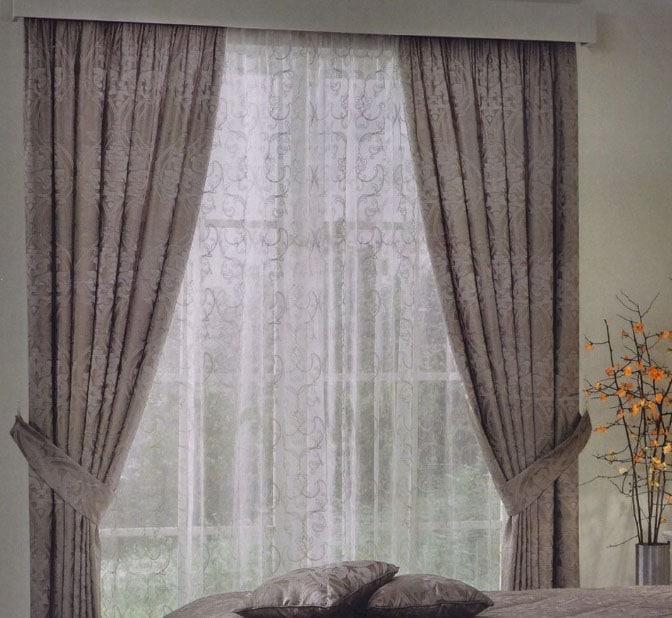однотонные серые шторы