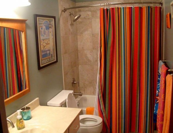 красивые шторы в ванной