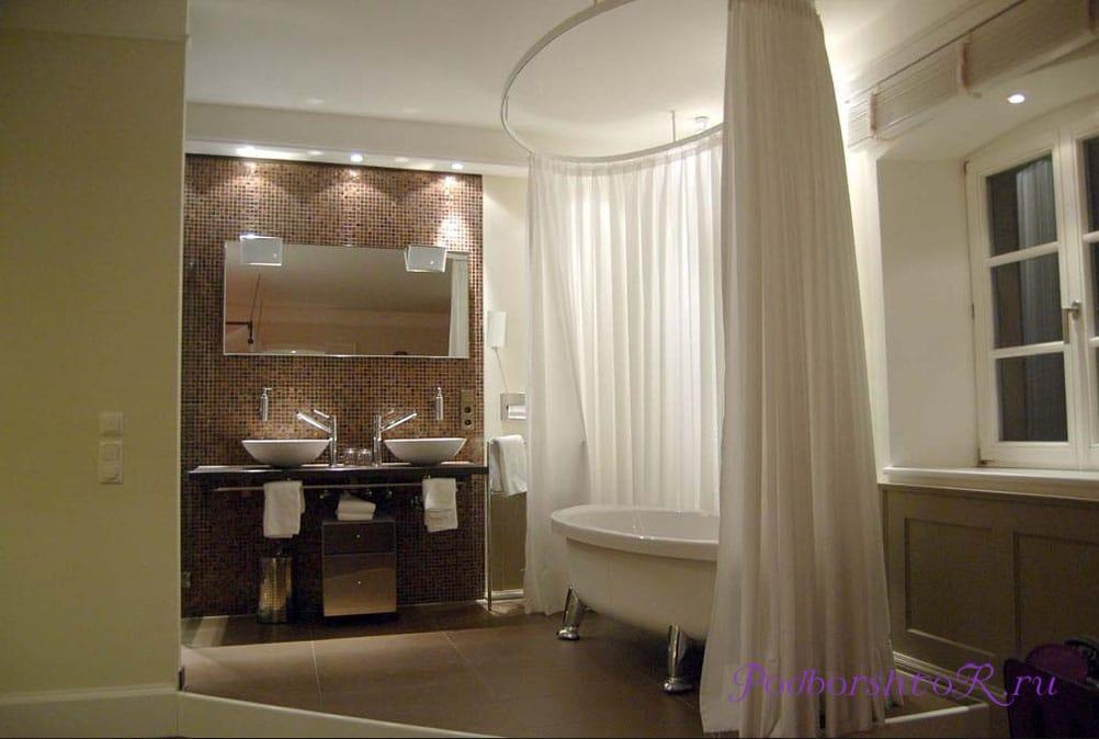 шторы в ванной