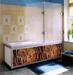 Фото шторки для ванны из стекла