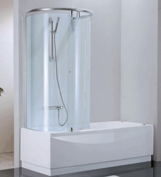 Полукруглая кабина на основе ванной.