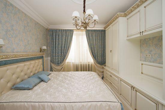 Шторы в белую спальню