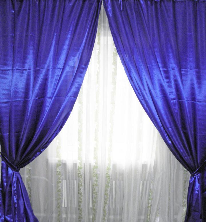 Satin curtains (4)