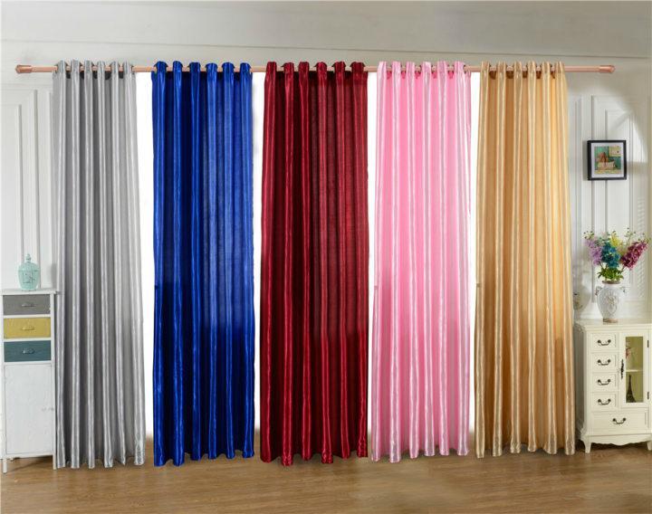 Satin curtains (11)