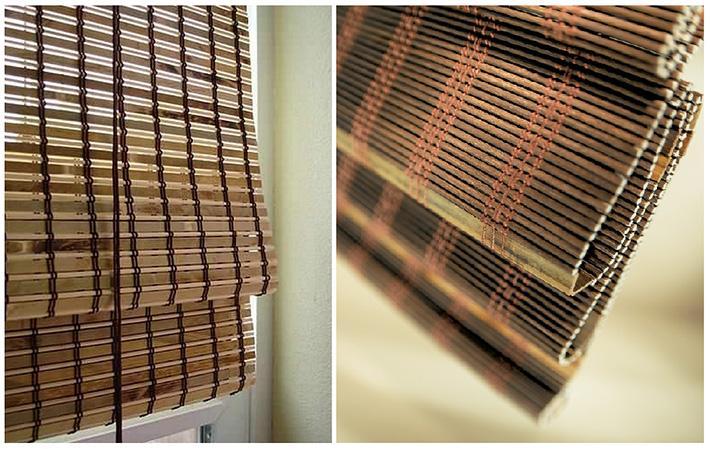 Занавески из бамбука лучше не подвергать стирке