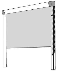 система рулонных штор с П-образными направляющими