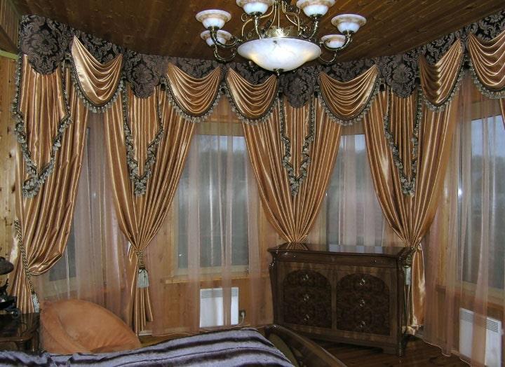 шоколадные шторы