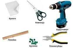 Инструменты для изготовления штор из бусин и ракушек