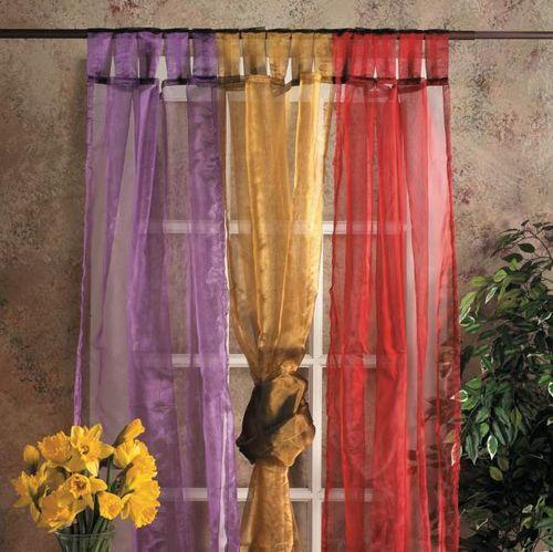 Красивые шторы из органзы