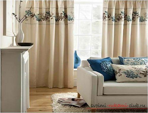 Фото примеры пошива оригинальных штор из льна. Фото №2