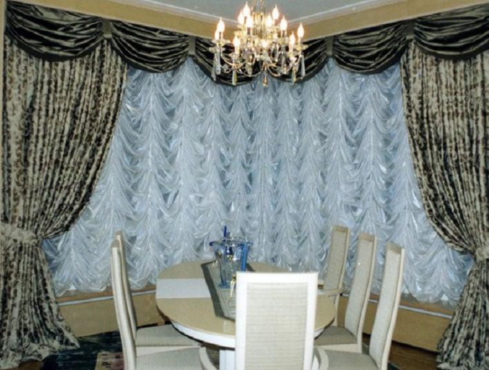 французские шторы своими руками для гостиной