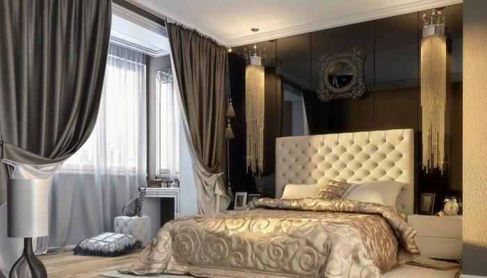 бархатные занавески в комнате