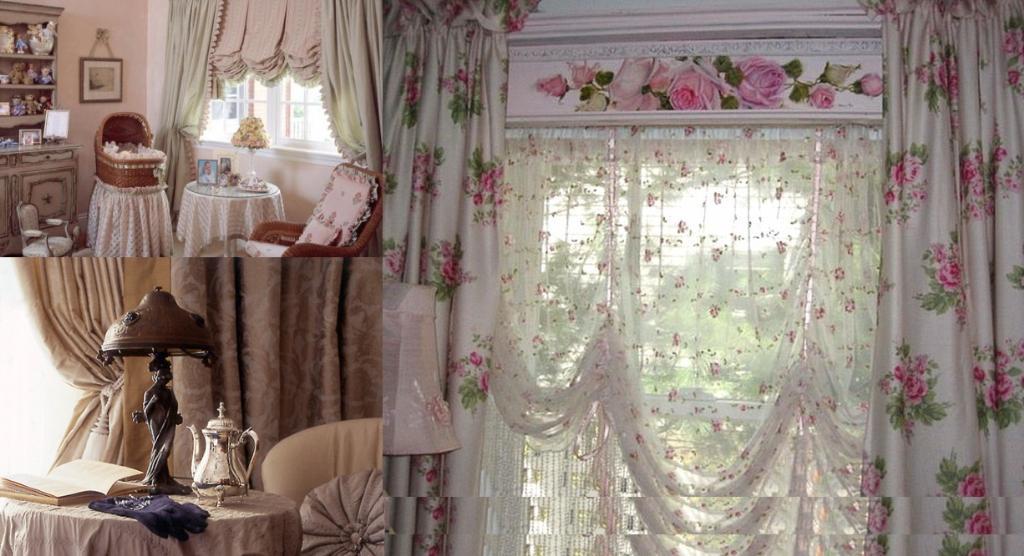 занавески из старых штор в интерьере