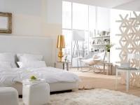 спальня в белых тонах фото