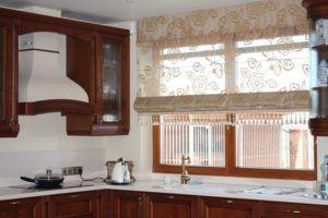 римская штора кухня