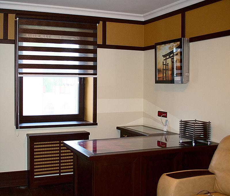 Рулонные шторы для кабинета