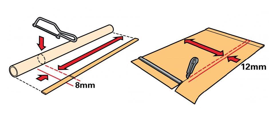 корректировка размеров рулонных штор