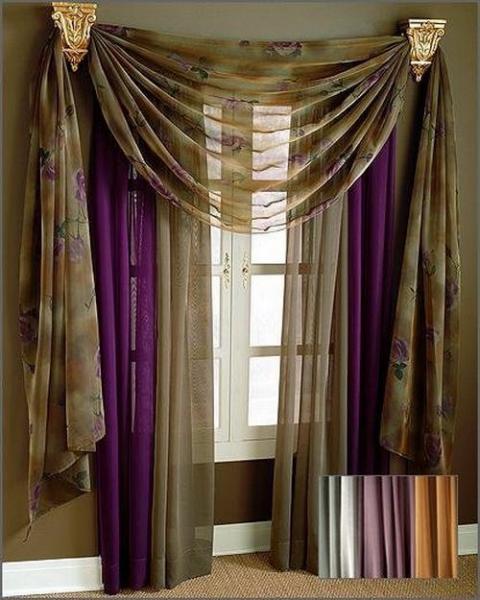 В каком стиле бывают шторы