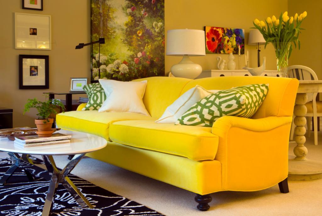 Фото № 19: Горчичный цвет в интерьере квартиры: 20 ярких идей