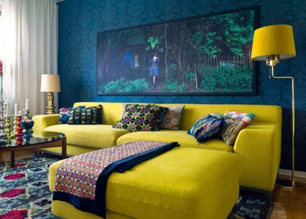 Фото № 17: Горчичный цвет в интерьере квартиры: 20 ярких идей