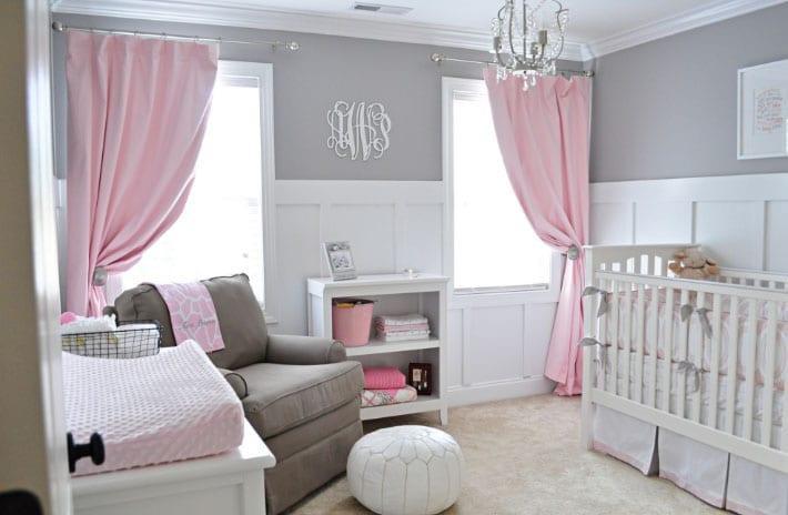 нежно-розовые шторы