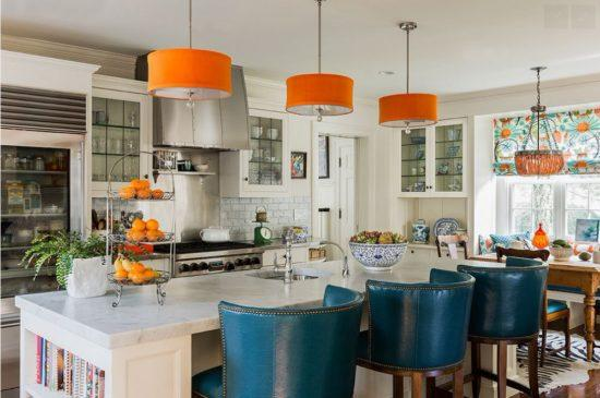 Интерьер кухни оранжевого цвета
