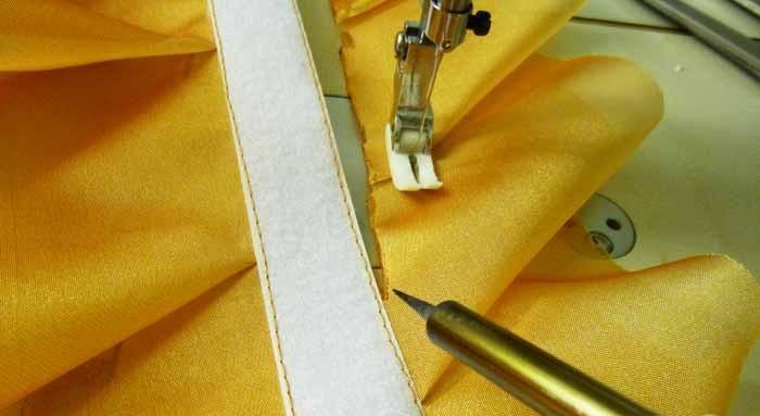 Липучка на декоративной планке из ткани