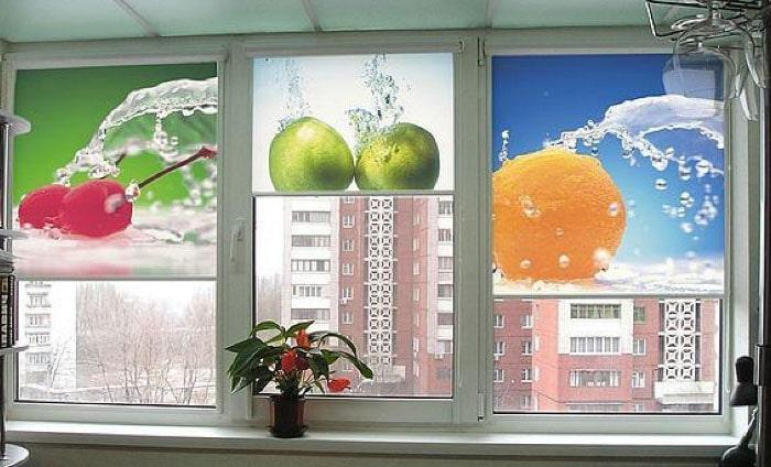 рулонные шторы с 3д рисунком