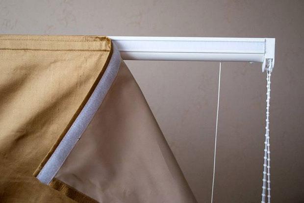 классические шторы на липучке