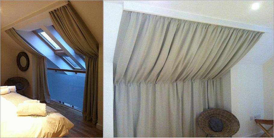 Шторы на мансардные скошенные окна