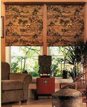 Римская штора в гостиной